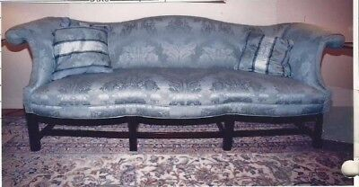 Salem Camelback Sofa with Superb Upholstery 1750-1770
