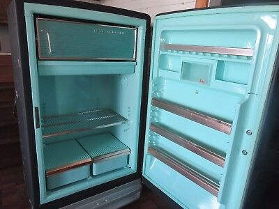Vintage 1950's antique retro General Electric GE refrigerator, RUNS!!