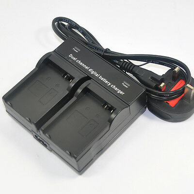 Dual Battery Charger for Canon LP-E8 LC-E8E EOS 550D 600D 650D 700D X4 T5i T3i