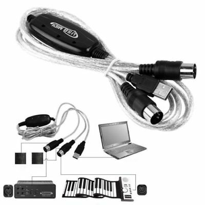 USB MIDI Interface Adapter PC Kabel für Keyboard Musik Konverter MIDI IN/OUT