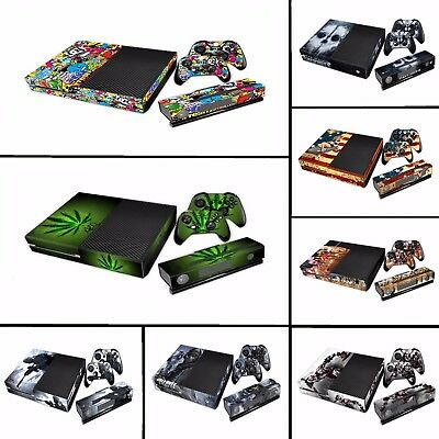 Xbox One Vinyl Decal Sticker Set for Xbox One Console & Two Controller Shells