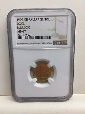 1996 Gibraltar Bulldog Gold Coin