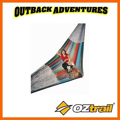 OZTRAIL MEXICAN KING SIZE HAMMOCK 2 PERSON 200x220cm 250kg WEIGHT RATING