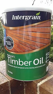 SAVE up to $50! 10L Intergrain Natures Timber Oil! Decking Oil RP$212