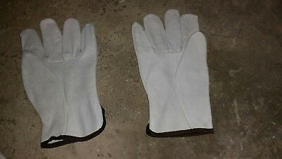 Leather work gloves large (12 pair)