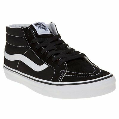 c7637814195758 NEW MENS VANS Black Sk8 Mid Reissue Canvas Trainers Lace Up -  76.31 ...