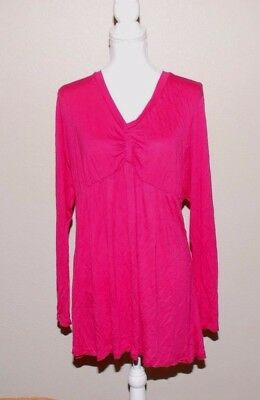 Introspect Maternity Ladies Women's Maternity Top Blouse Size XL Pink Long Sleev