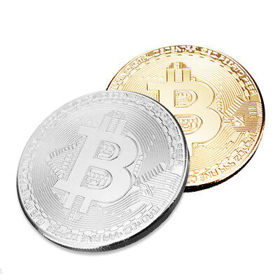 BTC Coins Commemorative Bitcoins Collection Physical Casascius Bit Silver/Gold