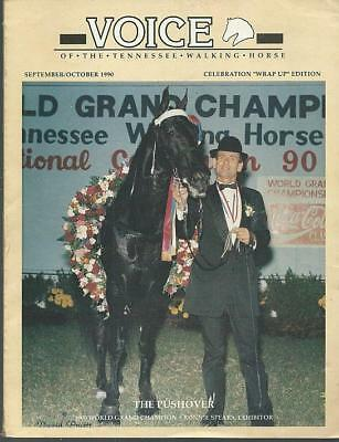 Voice of the Tennessee Walking Horse Magazine Sept/Oct 1990 The Pushover Cover