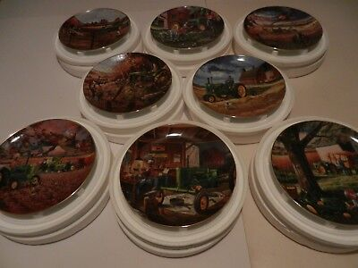 Life On The Farm Danbury Collector Plate Plates John Deere Complete Set of 8