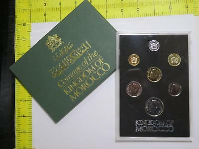 Kingdom Of Morocco 1974 1975 Dirham Proof Type Set Old World Coin Collection Lot