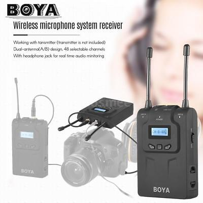 Boya By-Wm8R Uhf Wireless Microphone Mic Receiver For Cameras Camcorders Dslr