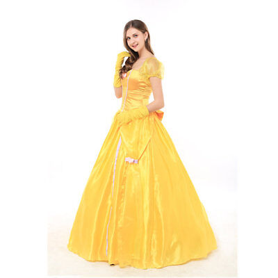 KLEID BELLE Prinzessin Beauty and the Beast Kostüm Party Fasching ...