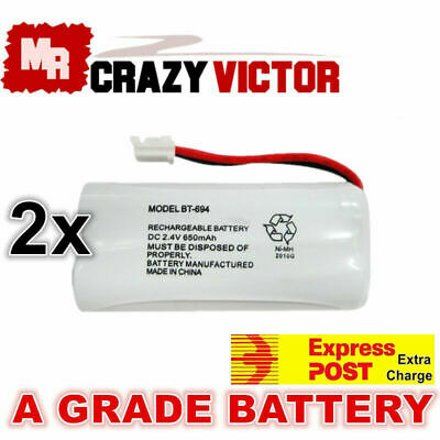 2x Replacement BT694 Battery for Telstra Uniden Cordless Phone SSE27 +1