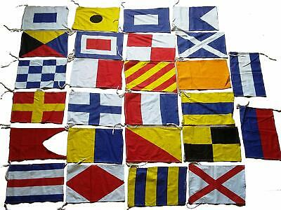 MARINE NAVY Signal Code FLAG Set -Set of Total 26 flag - 100% COTTON