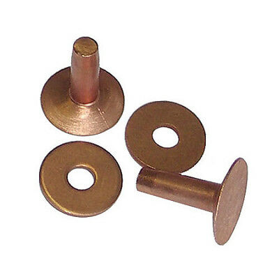 12 QTY. C.S. Osborne & Co. No. 1700 - Copper Rivets, Size 10