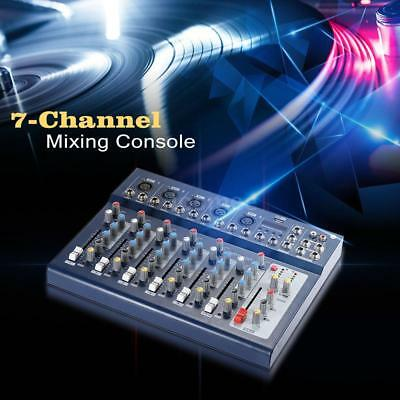 ammoon F7-USB 7-Channel Digital Mic Line Audio Sound Mixer Mixing Console Blue
