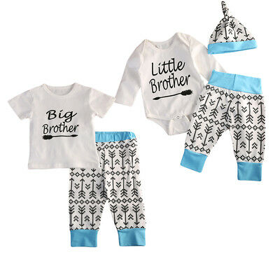 AU Stock Big/Little Brother Mathing Outfits T-shirt Romper Pants Clothing Set