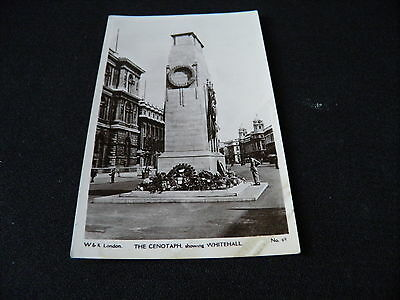 London Postcard The Cenotaph showing Whitehall