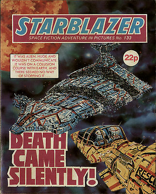 Death Came Silently!,starblazer Space Fiction Adventure In Pictures,no.133,1984