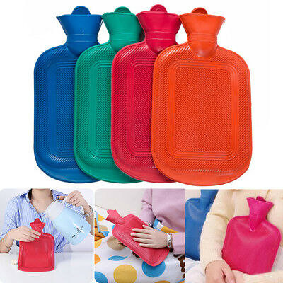 Thick Rubber Hot Water Bottle Bag Warm Relaxing Heat Cold Therapy Reusable