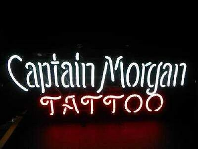 "New Captain Morgan Tattoo Rum Pub Bar Neon Sign 17""x14""  Fast Ship"