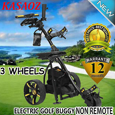 NEW Digital Electric Golf Buggy Trolley Non Remote 3-Wheel 36 Holes Power Caddy