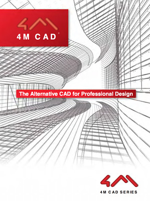 4M CAD STD SOFTWARE, 2018 DWG COMPATABLITY - THE IDEAL AutoCAD ALTERNATIVE!