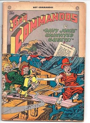 Boy Commando # 14, ( Mar.-April 1946 DC)  Reading copy of early issue -1/3 OFF !