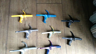 Eight left handed foil and epee pistol grips - fencings  suit armourer