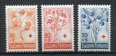 38517) FINLAND 1958 MNH** Red Cross, fruits 3v