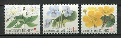 38523) FINLAND 1983 MNH** Anti tuberculosis, flowers 3v