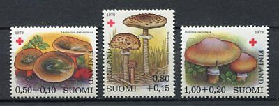 38524) FINLAND 1978 MNH** Red Cross, mushrooms 3v