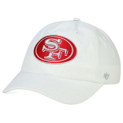 cheap for discount 791ca a8efd San Francisco 49ers Women s Luster Clean Up NFL Adjustable White Hat Cap  Ladies