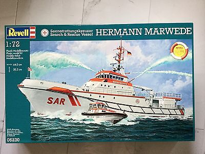 Revell / Germany 1/72 150 Year Dgzrs Hermann Marwede Ship Model Kit # 05220 F/s