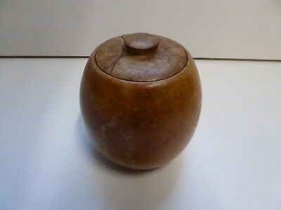 Vintage Mottled Konini Native Fuchsia Tea Caddy / Pot - By RD Waller Akaroa NZ