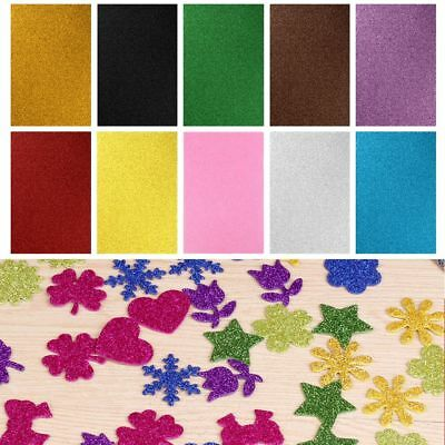 10Sheets A4 Glitter Cardstock Craft Paper Scrapbooking Paper Card Making Craft