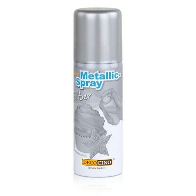 Dekoback Decocino Essbares Metallic-Spray Silber 50ml - Kreativ backen (1er Pack