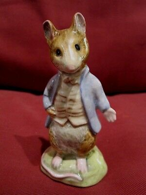 Highly Collectable Beswick Beatrix Potter Johnny Townmouse 1276 Gold Stamp