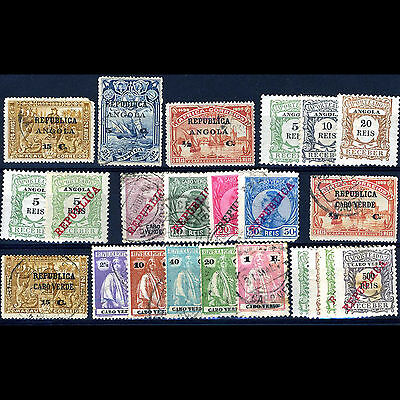 ANGOLA, CAPE VERDE. Selection. 23 Values. Unchecked. Condition Varies. (CA26R)