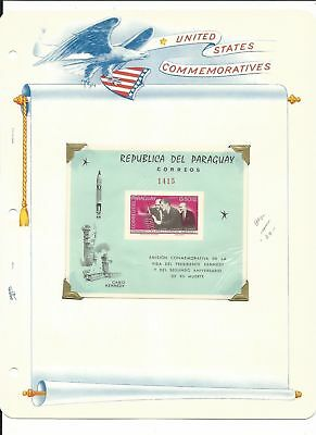 Paraguay Collection, John Kennedy & Space on 7 White Ace Pages Mint NH (C)