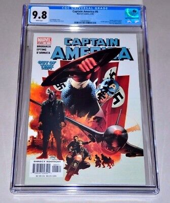 Captain America 6 (2005) CGC 9.8 White Pages 1st Winter Soldier