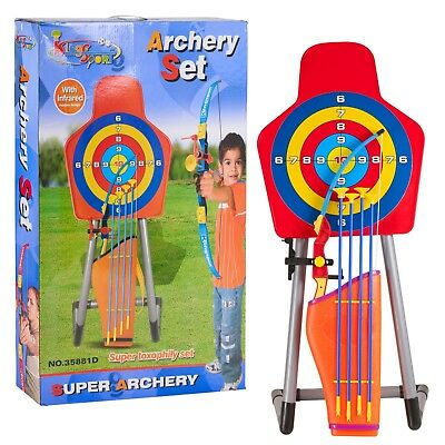 Kids Large Bow And Arrow Set With Arrows Target Toy Archery Shooting Game Boys
