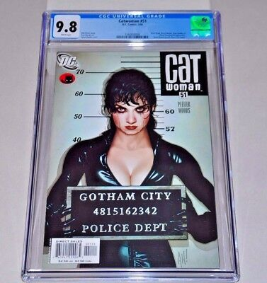 Catwoman 51 CGC 9.8 White Pages Adam Hughes