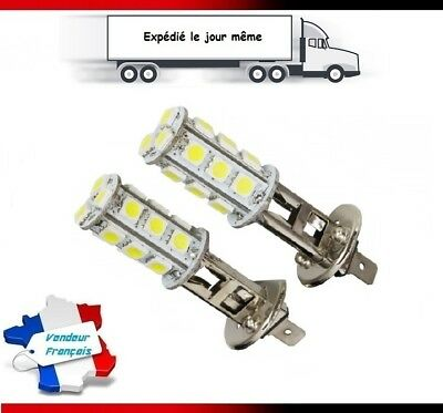 2X Ampoules H1 LED 18 SMD Blanc Pure 6000K Xenon Phare Feux Anti-Brouillard