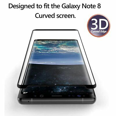 For Samsung Galaxy Note 8 Exact 【HD Clear】 Tempered Glass Screen Protector-Black