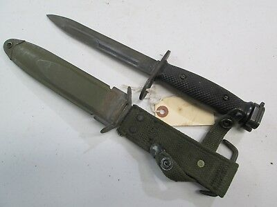 Vietnam Us Carbine Bayonet With Scabbard Marked Boc #n32