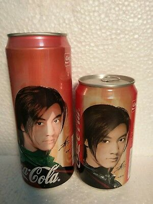 two 2001 Coca Cola canS from China, Xie Tingfeng (500ml AND 355 ml)