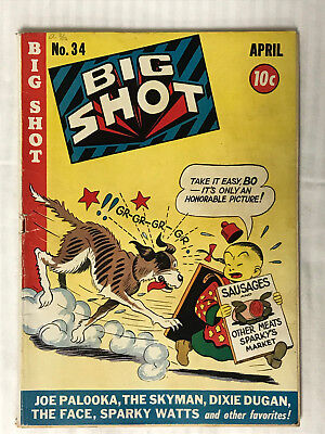 Big Shot Comics #34 - (1940) Dog Chase Cover! Low Grade Golden Age!