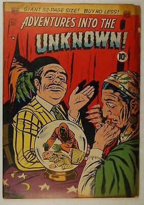 "Adventures into the Unknown #12 (Aug-Sep 1950, ACG) ""The Vampire Vision!"""